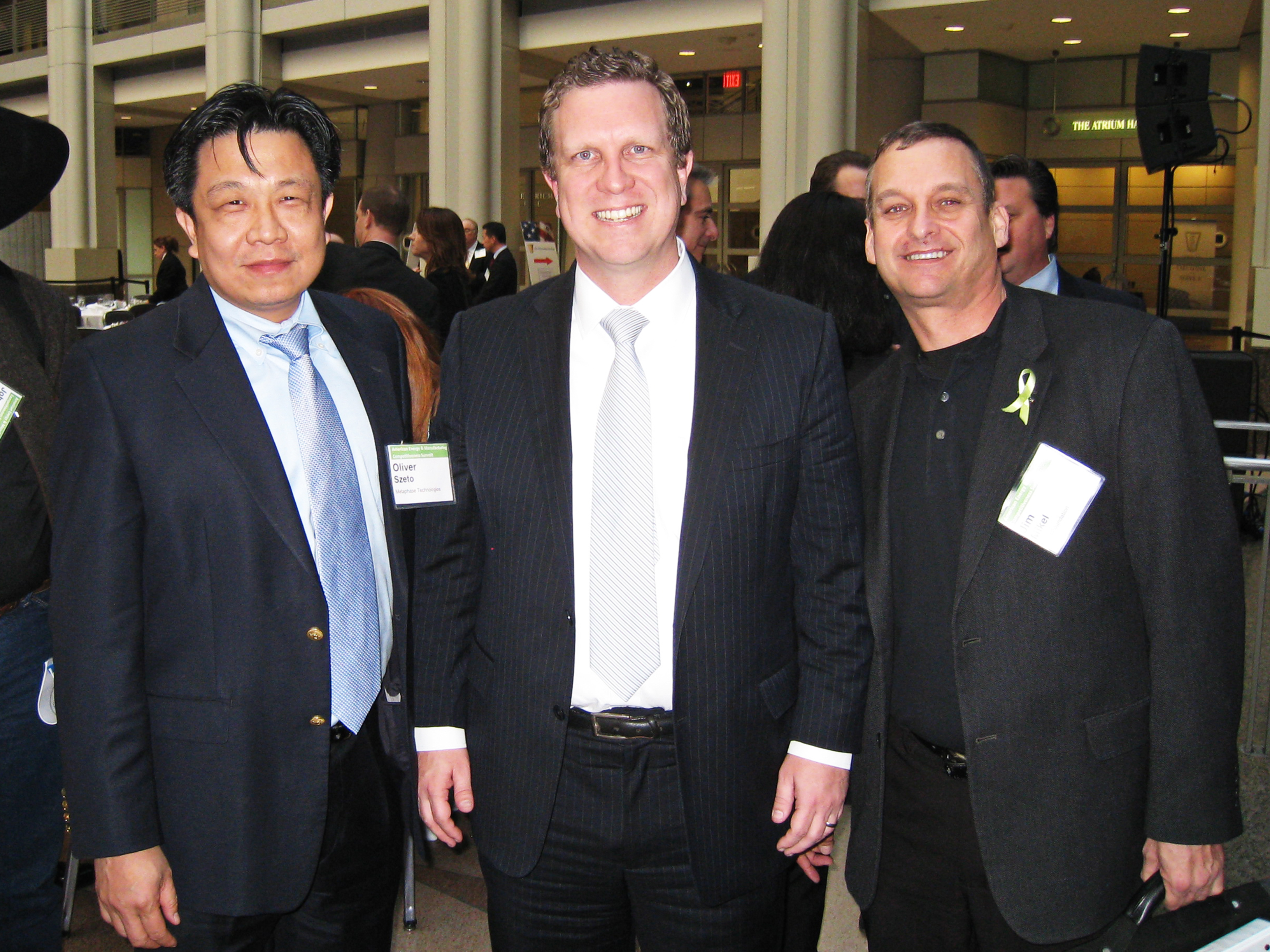 Szeto, pictured above with David Danielson, Assistant Secretary for Energy Efficiency and Renewable Energy and Jim Mikel of The Spirit Foundation, at the White House.