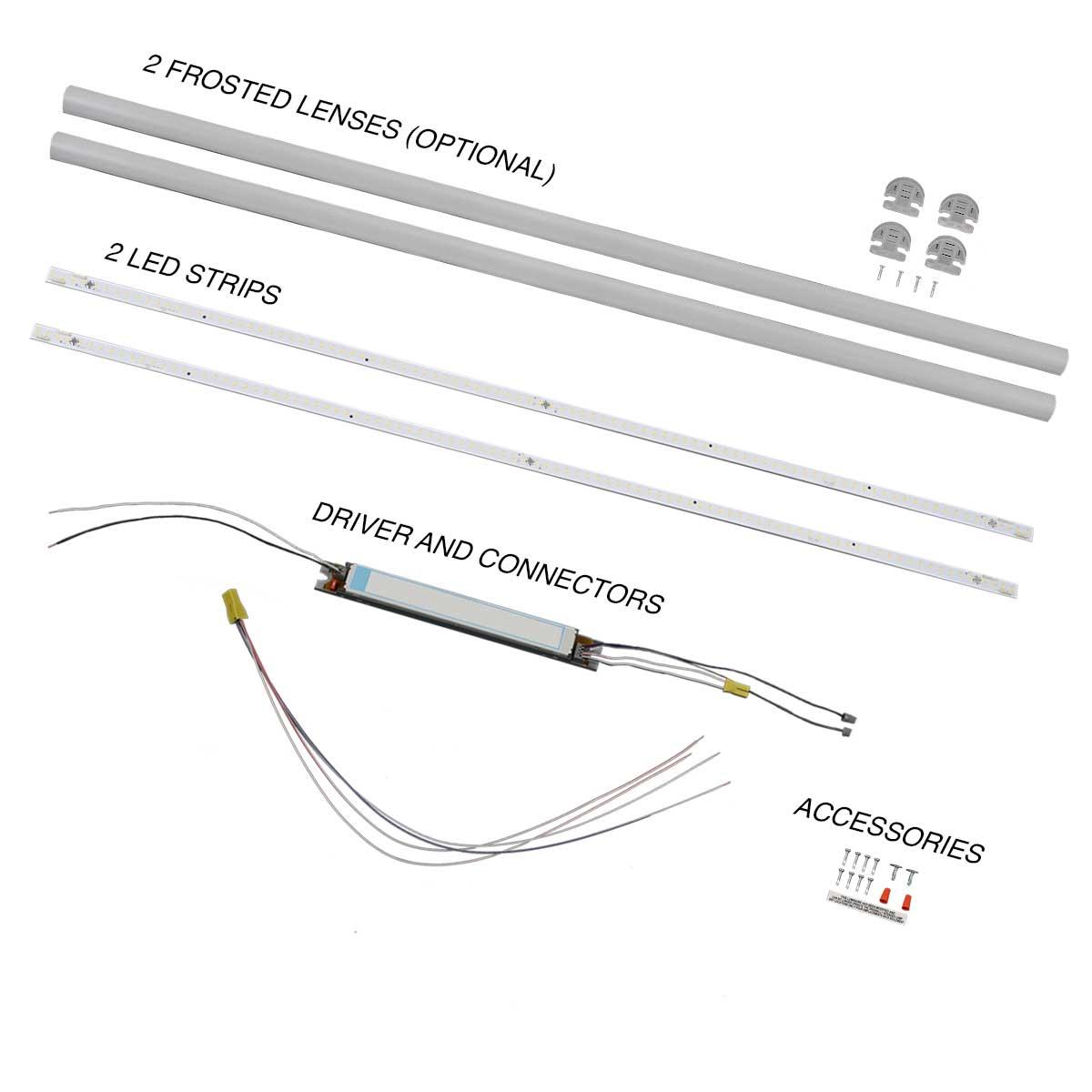 GEN 3 LED retrofit kit for 2x4 fluorescent lights